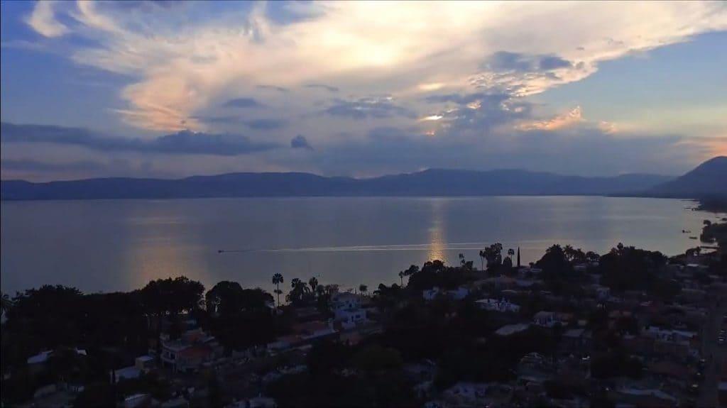 Sunset on the Chapala Lake