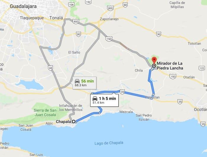 How to get to mirador de la piedra lancha
