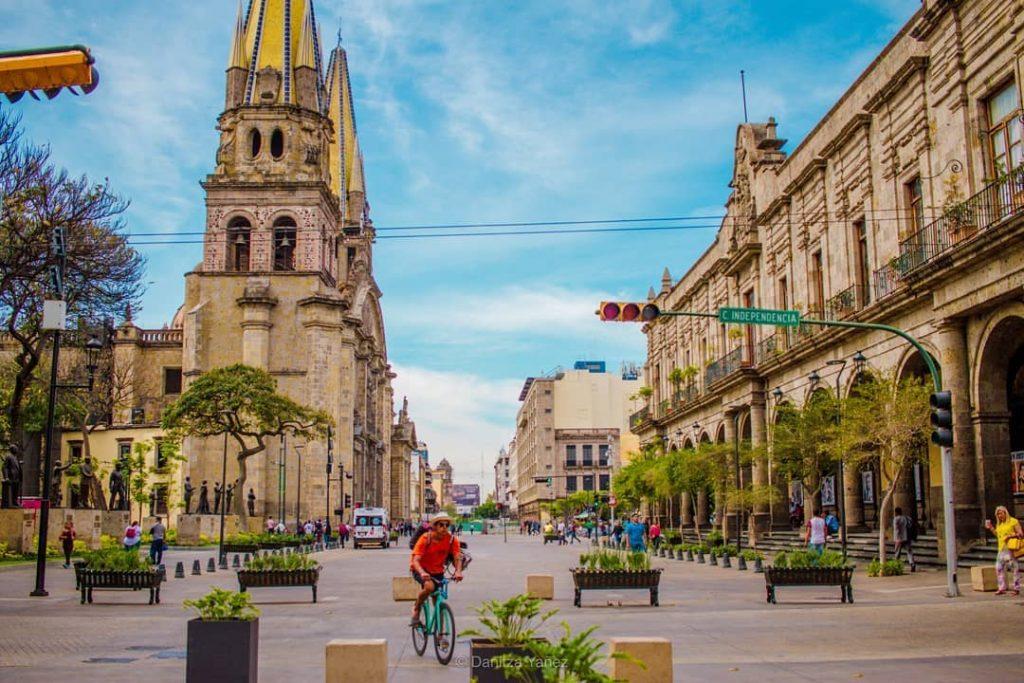 Street of independence in Guadalajara