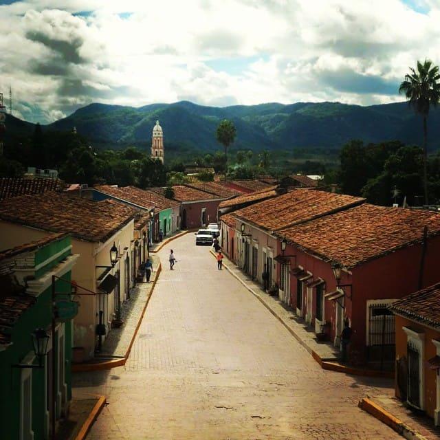 Street in city Cosala Sinaloa Mexico