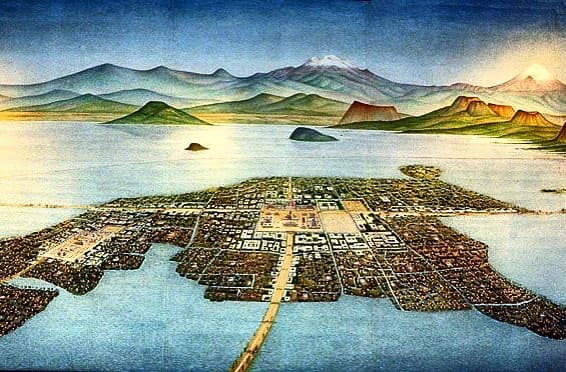 The image of Tenochtitlan city